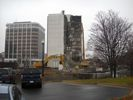 Sheraton hotel being demolished.