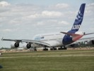 Airbus A380 on runway
