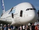 Airbus A380 on display with doors open